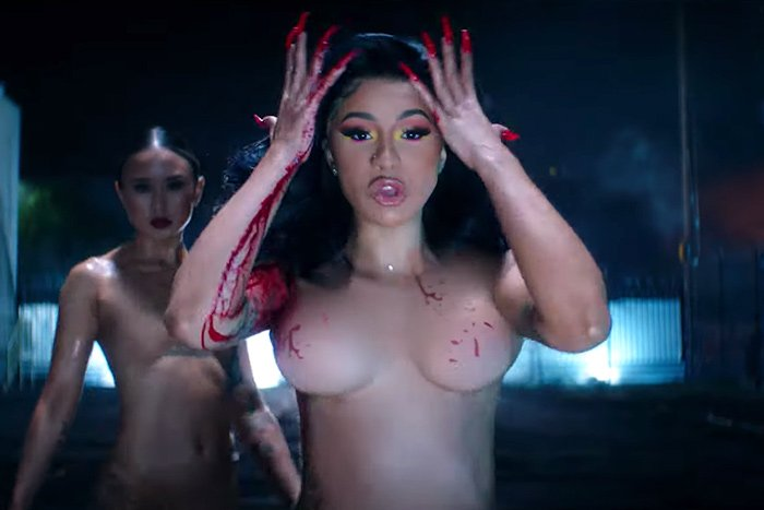 Cardi B goes to court, jailed, and featured naked in intense new video